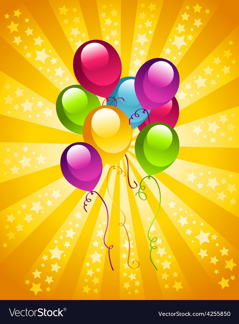 Party birthday balloons vector | Price: 1 Credit (USD $1)