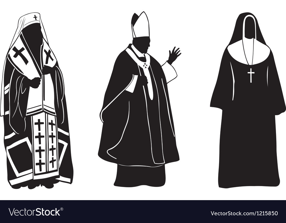 Priests vector | Price: 1 Credit (USD $1)