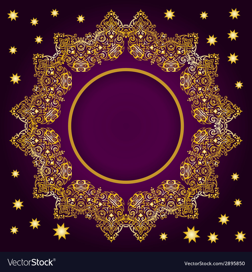 Royal luxury ornamental golden frame vector | Price: 1 Credit (USD $1)