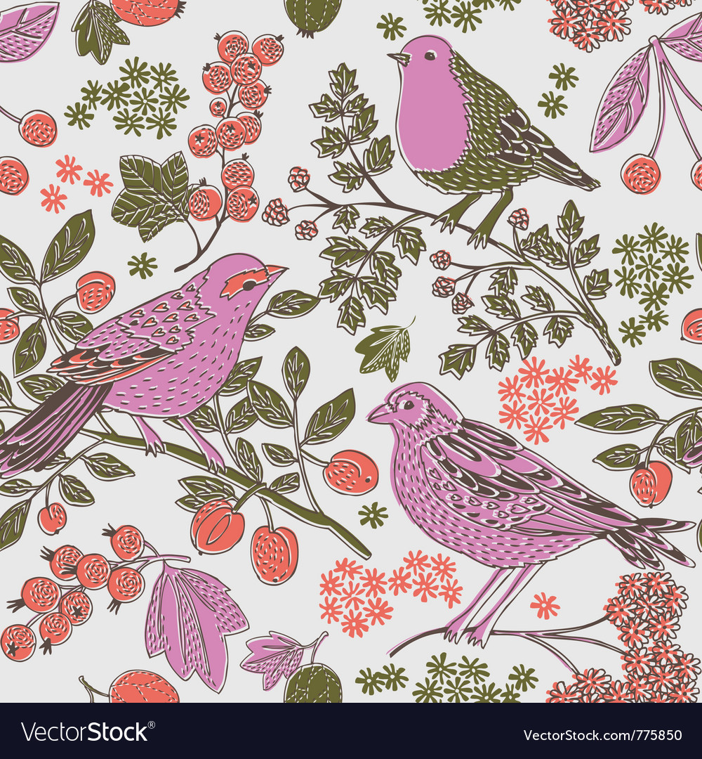 Two tone bird print vector | Price: 1 Credit (USD $1)