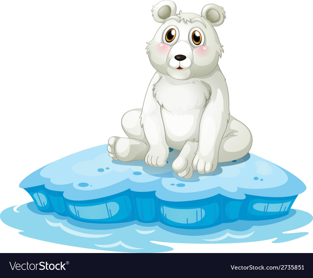 A polar bear above the iceberg vector | Price: 1 Credit (USD $1)