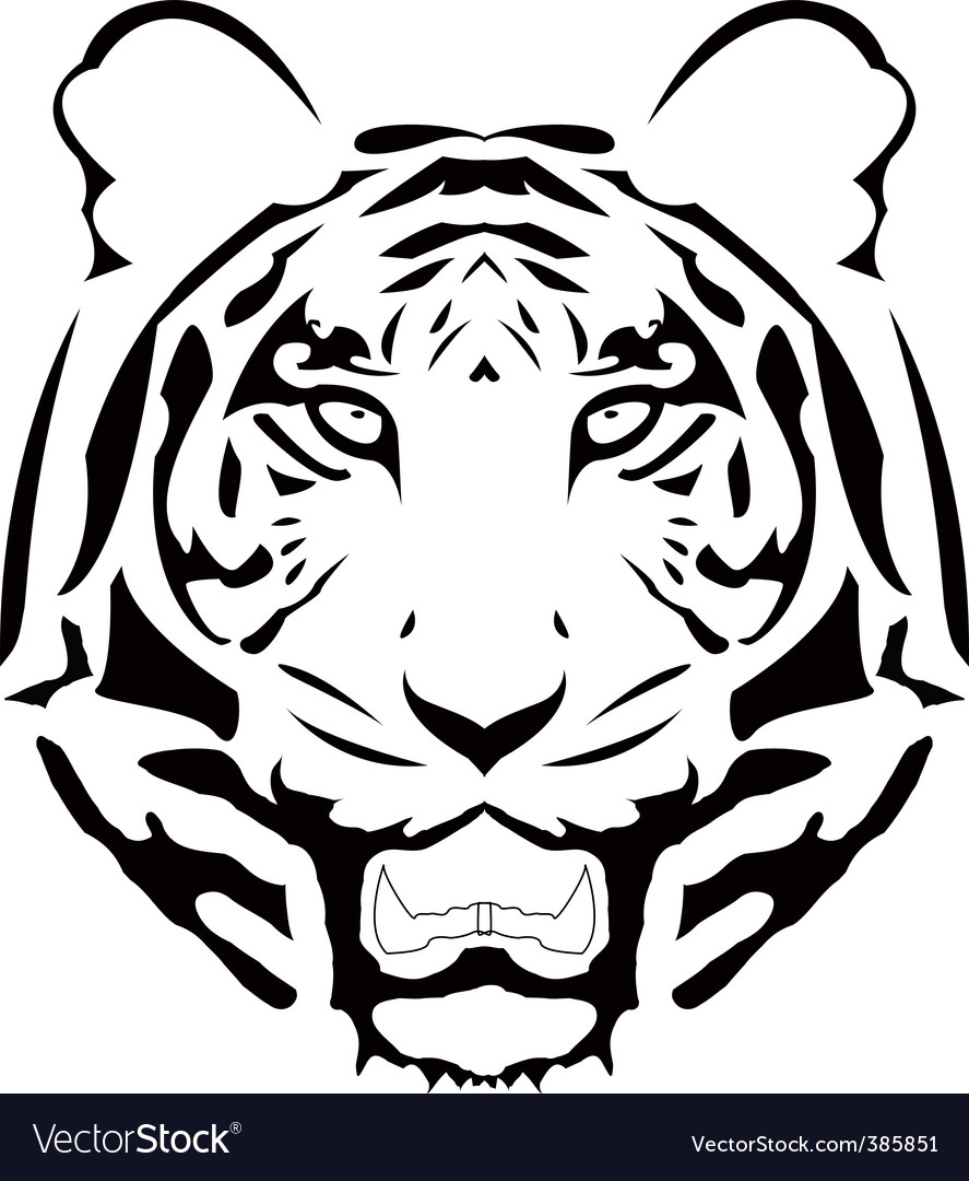 abstract tiger head vector | Price: 1 Credit (USD $1)