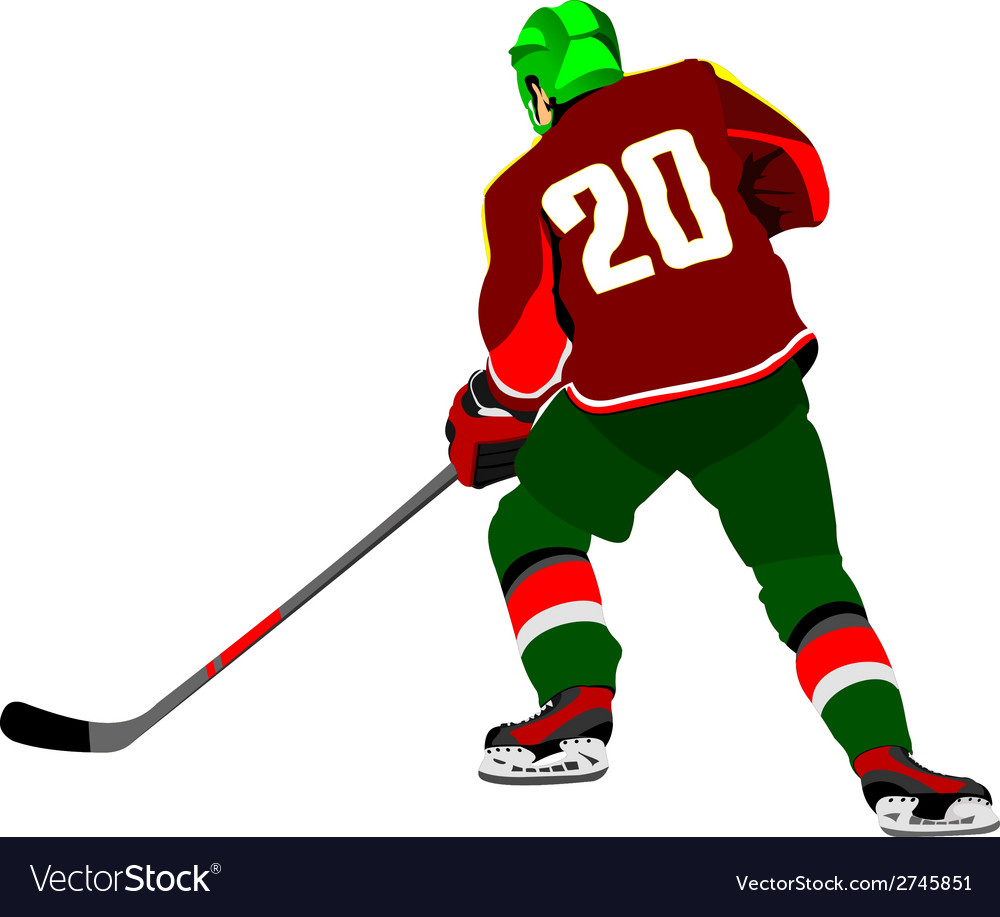 Al 0643 hockey player 01 vector | Price: 1 Credit (USD $1)