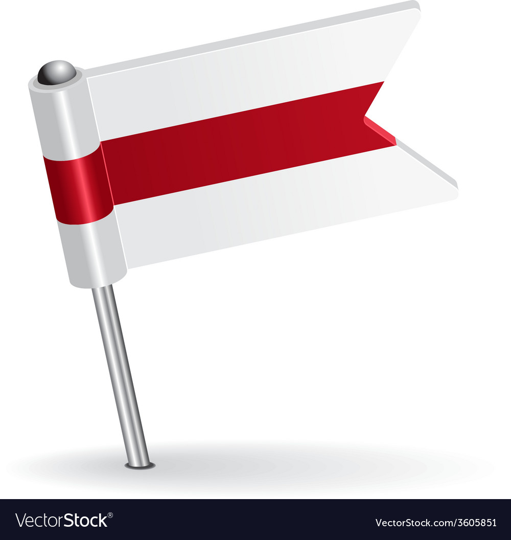 Belarus pin icon flag vector | Price: 1 Credit (USD $1)