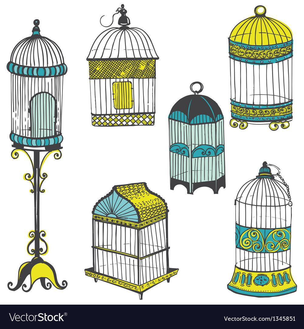 Birdcages collection vector | Price: 3 Credit (USD $3)
