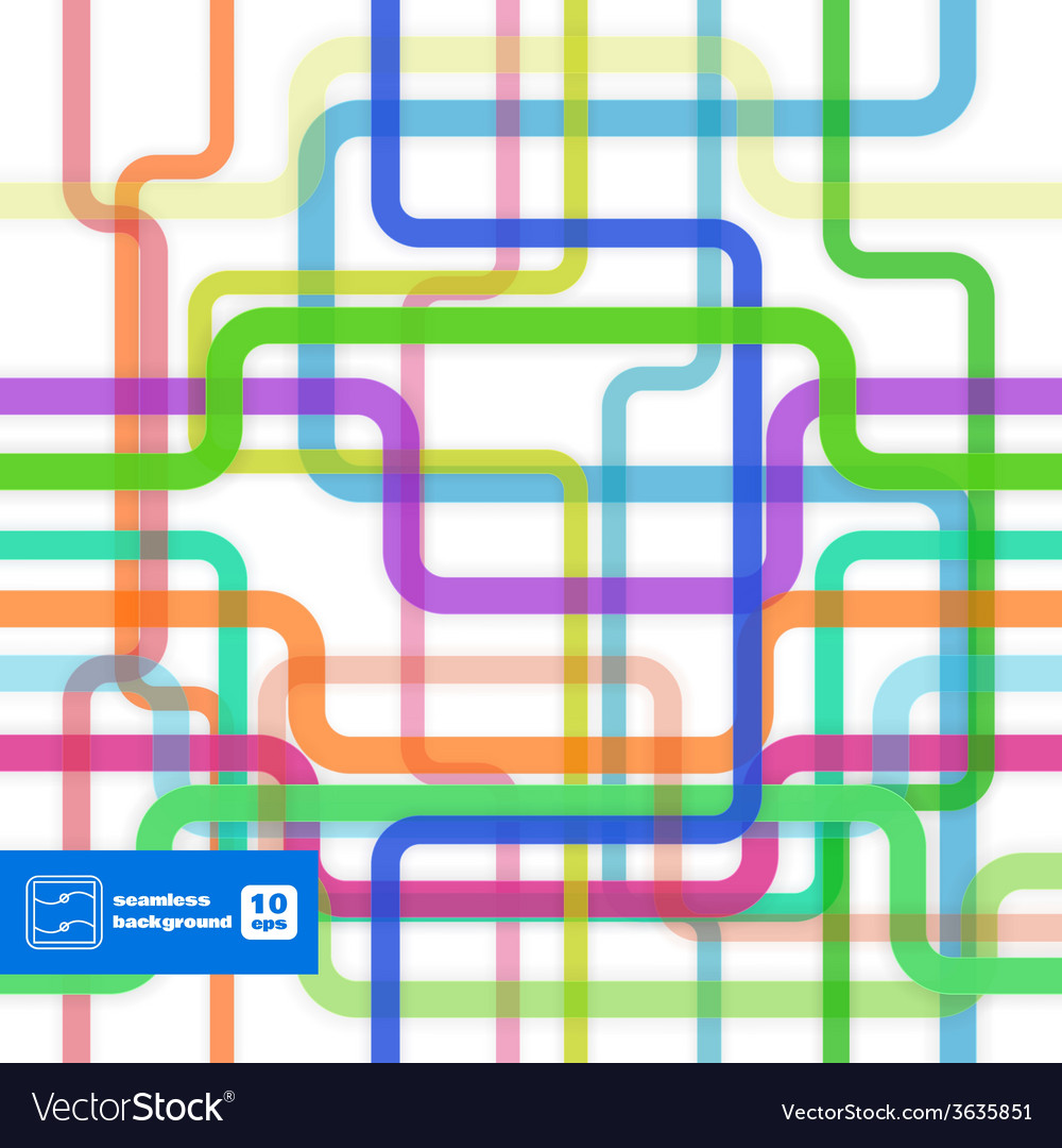 Colorful flat lines seamless pattern vector | Price: 1 Credit (USD $1)