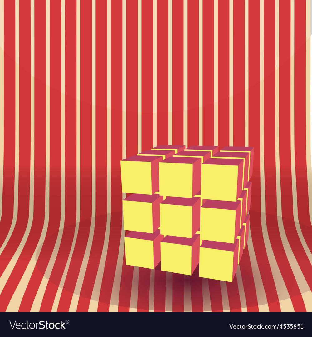 Cube block 3d vector | Price: 1 Credit (USD $1)