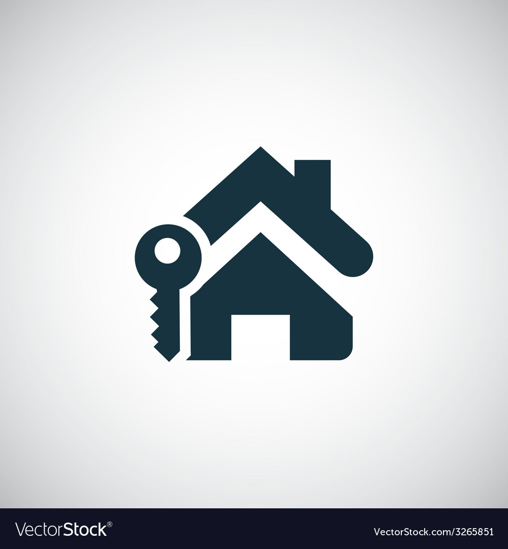 Home key icon vector | Price: 1 Credit (USD $1)
