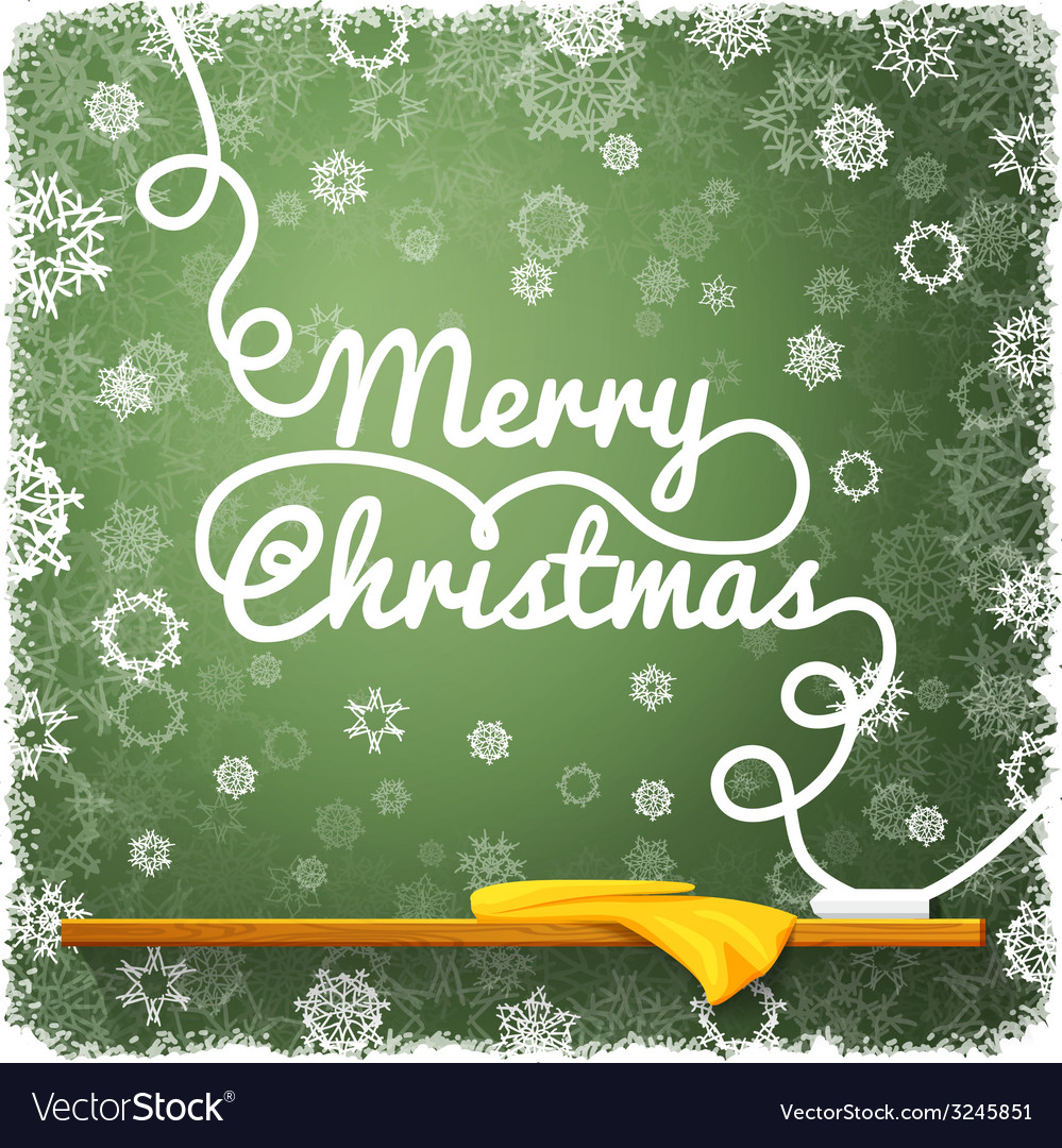 Merry christmas message written on the green vector | Price: 1 Credit (USD $1)
