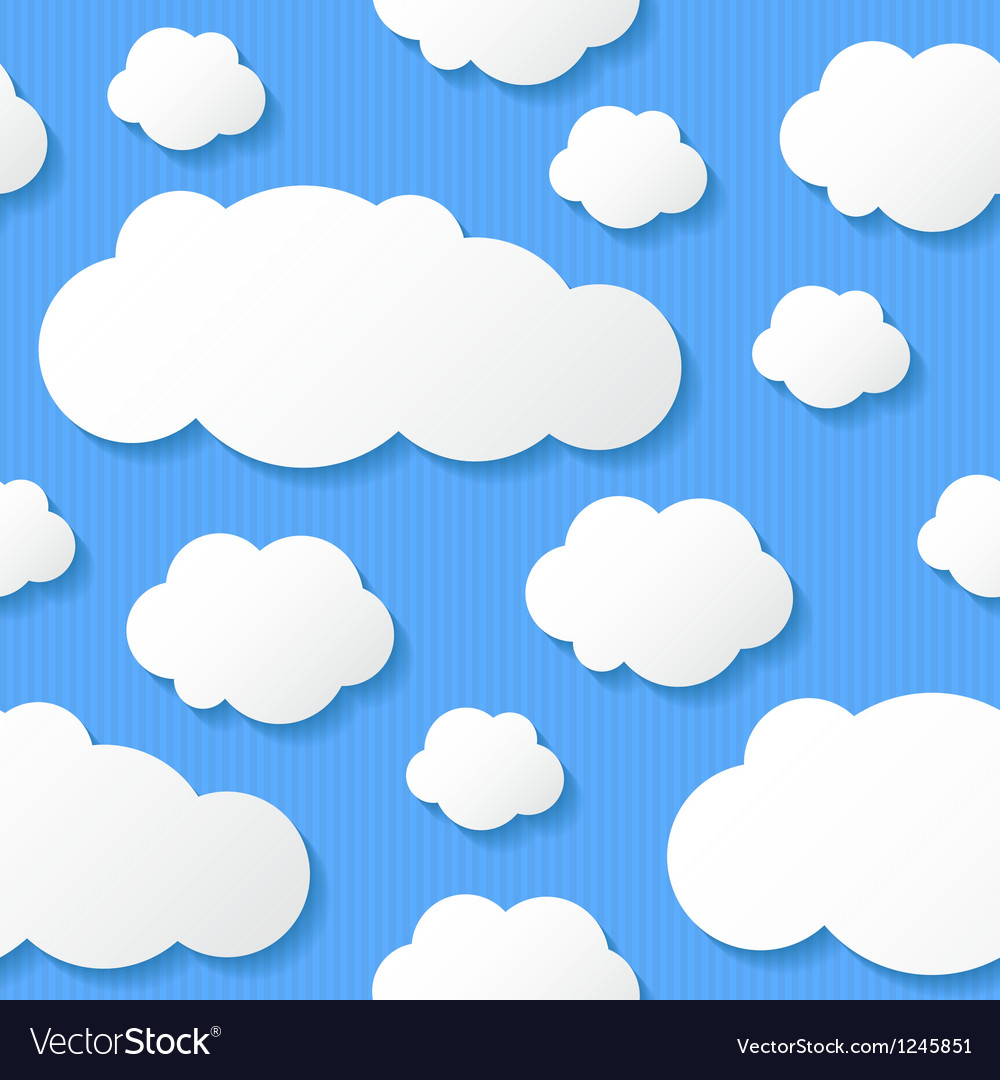 Paper clouds eps 10 vector | Price: 1 Credit (USD $1)