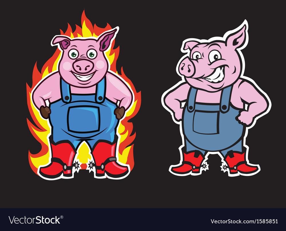 Pig mascot vector   Price: 1 Credit (USD $1)