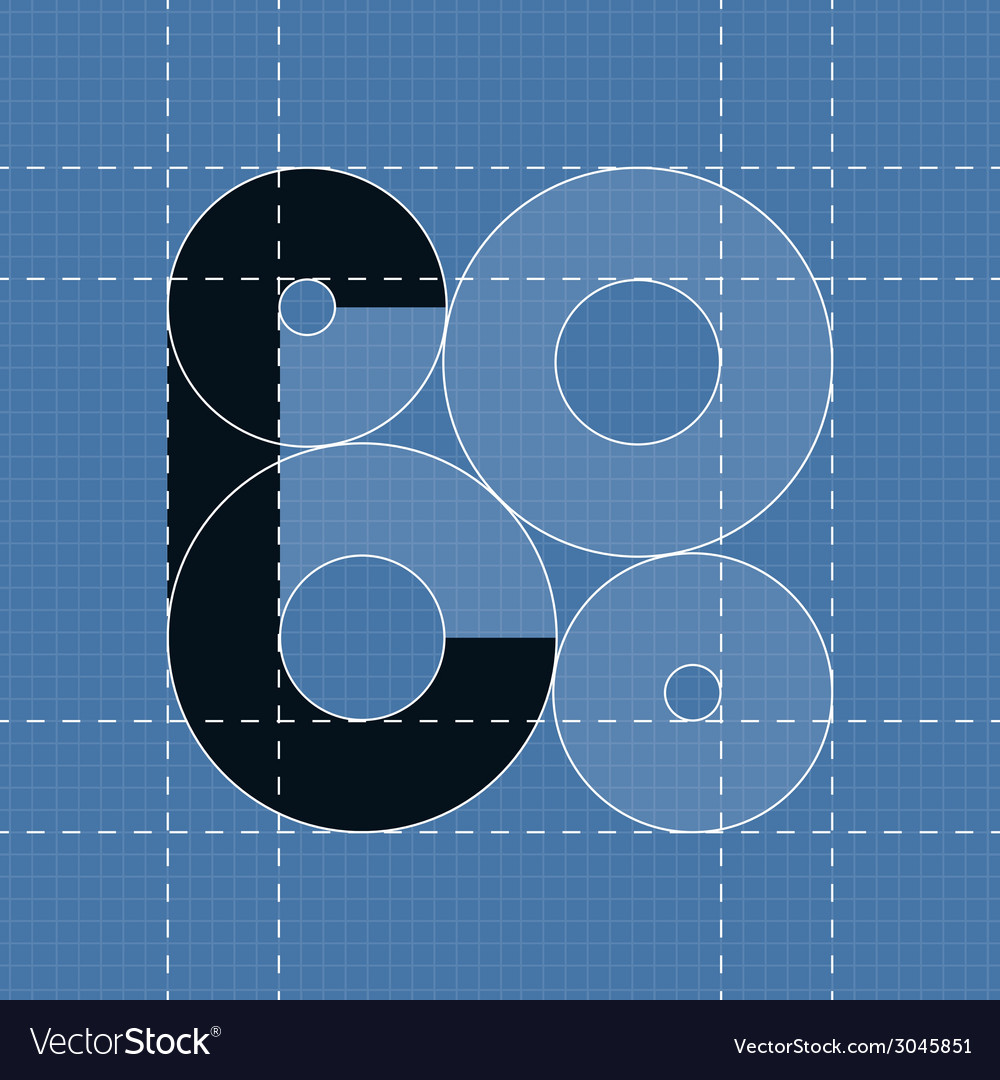 Round engineering font symbol c vector | Price: 1 Credit (USD $1)