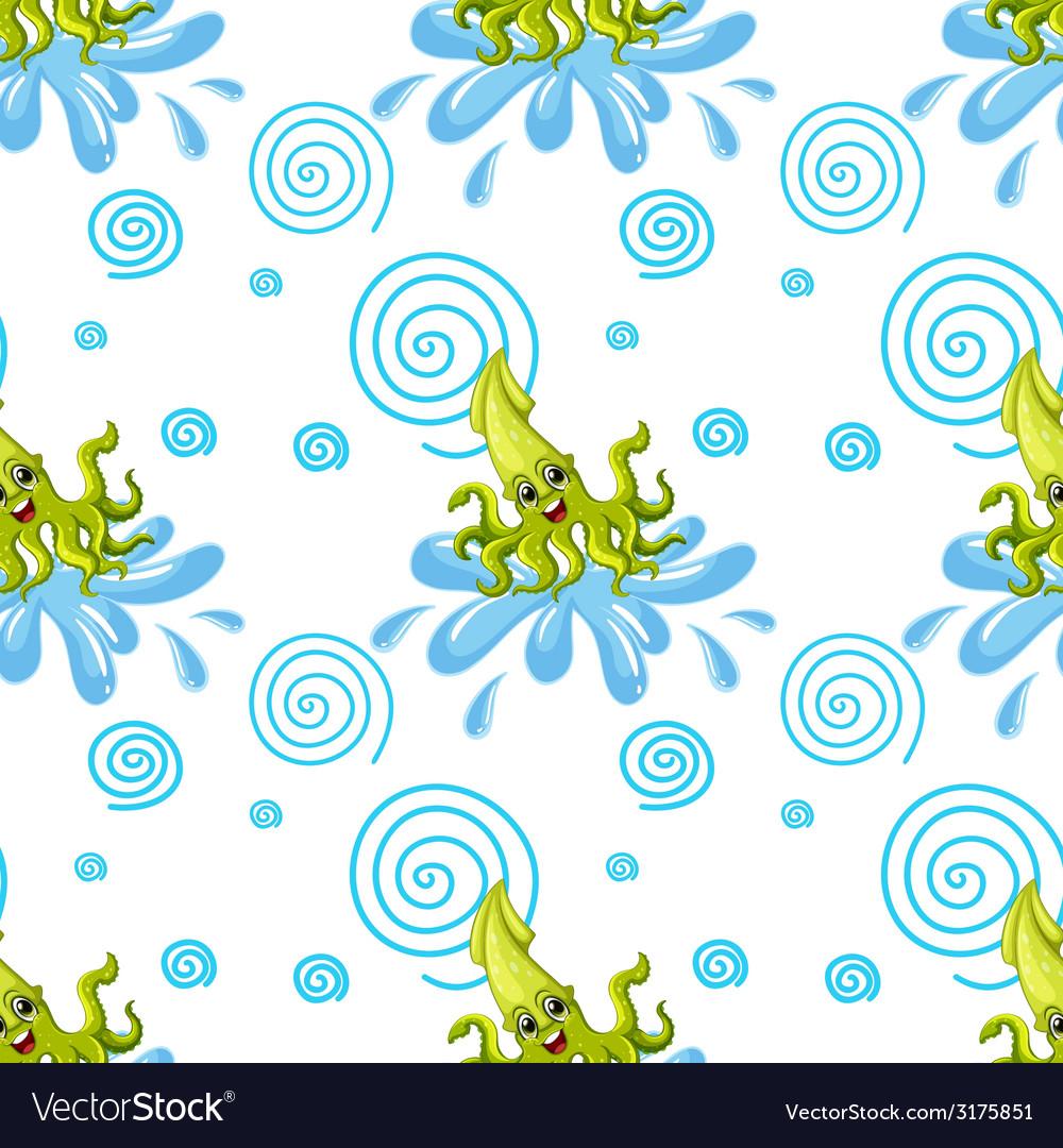 Seamless squid vector | Price: 1 Credit (USD $1)