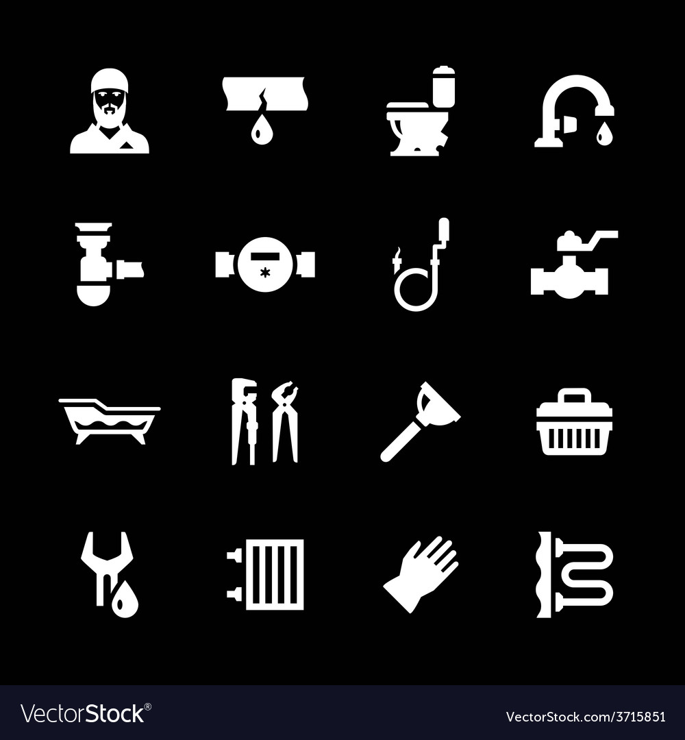 Set icons of plumbing vector | Price: 1 Credit (USD $1)