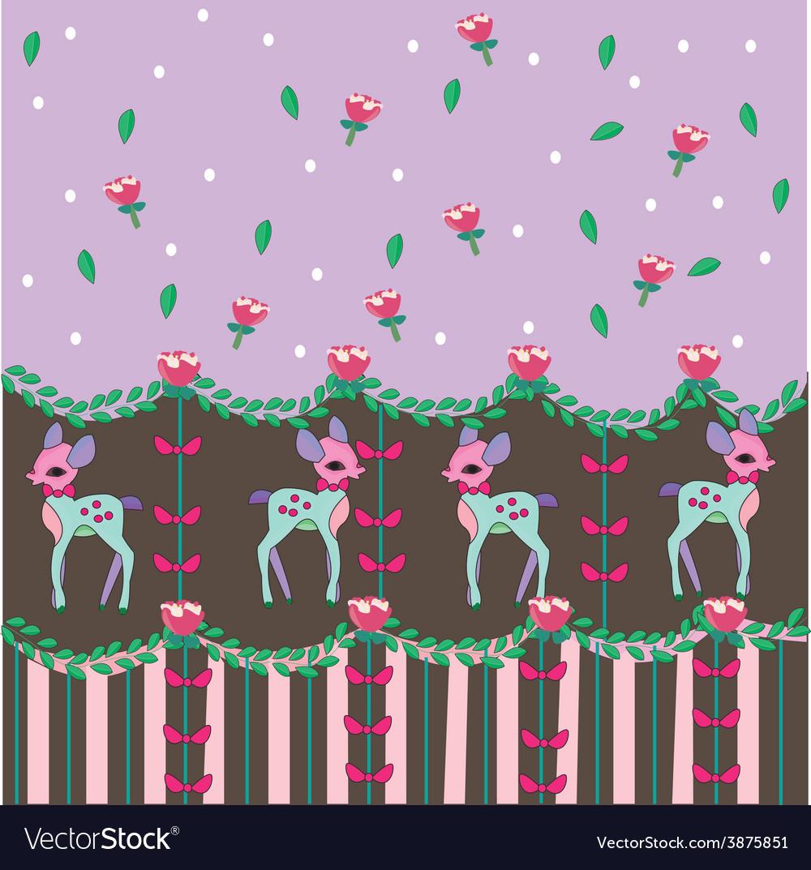 Sweet dear pattern lolita vector | Price: 1 Credit (USD $1)