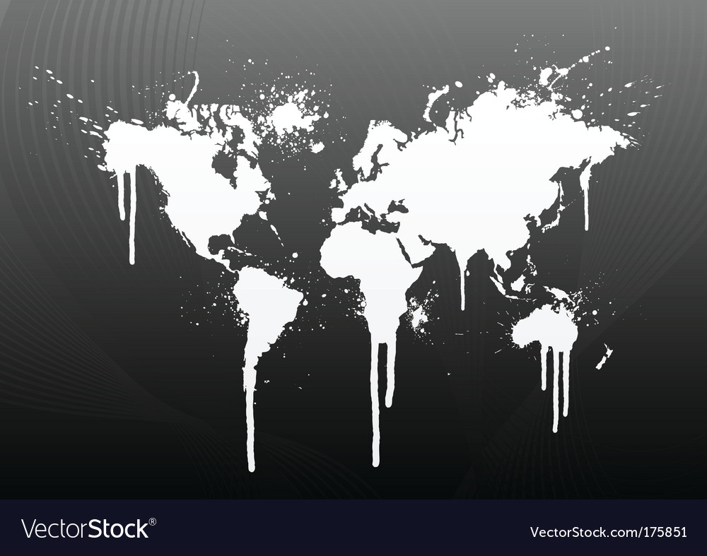 World map splatter vector | Price: 1 Credit (USD $1)