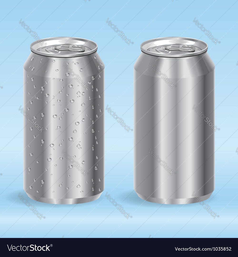 Aluminum drink cans vector | Price: 1 Credit (USD $1)