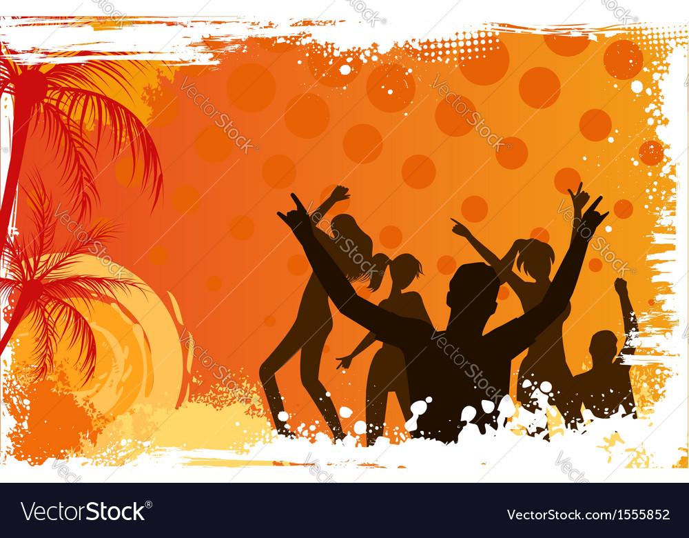 Background with dancing people vector | Price: 1 Credit (USD $1)