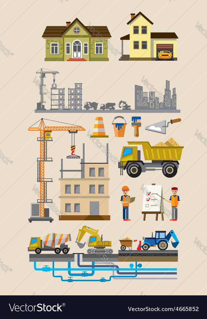 Building and construction vector | Price: 1 Credit (USD $1)