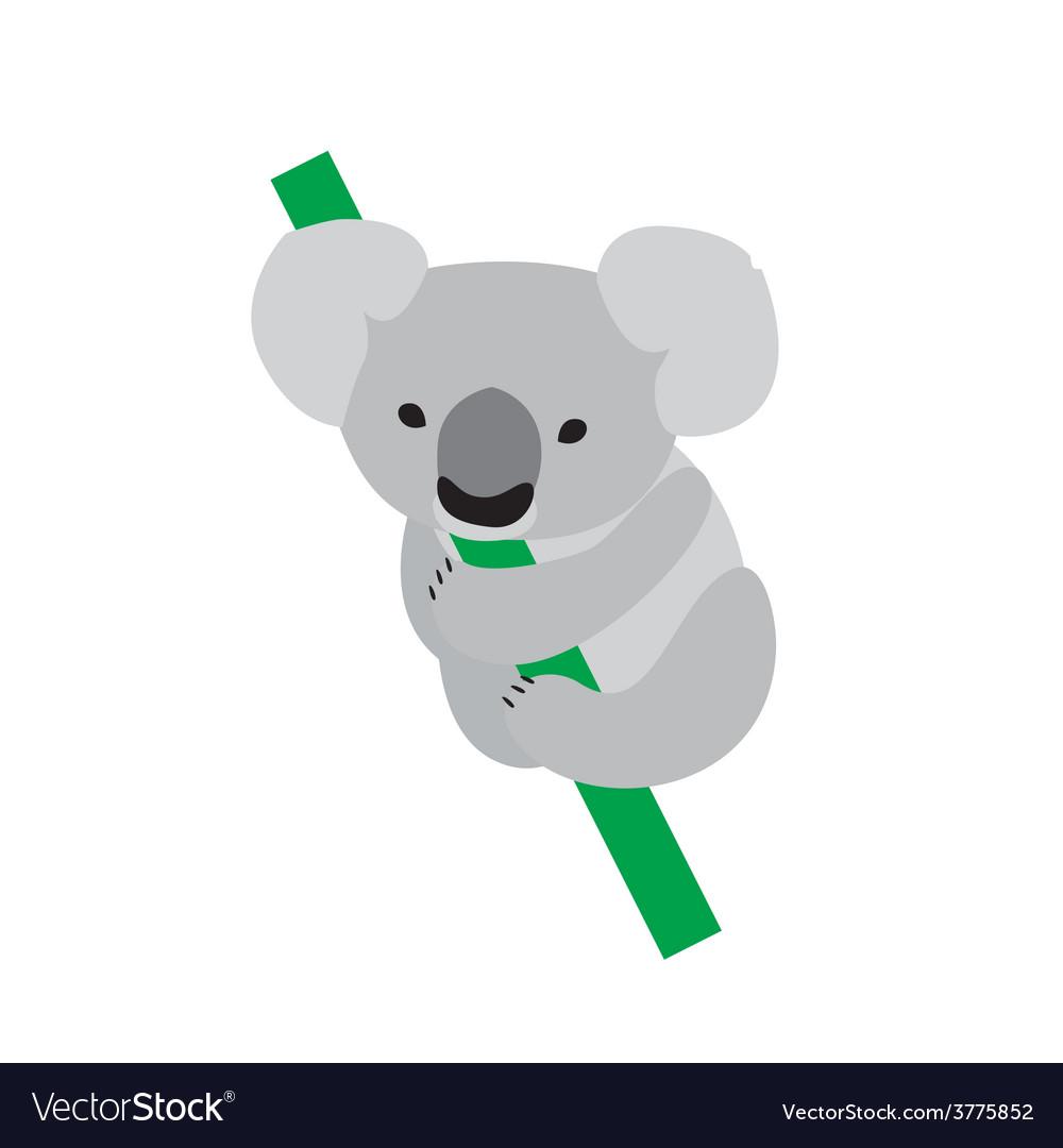 Cute baby koala vector | Price: 1 Credit (USD $1)