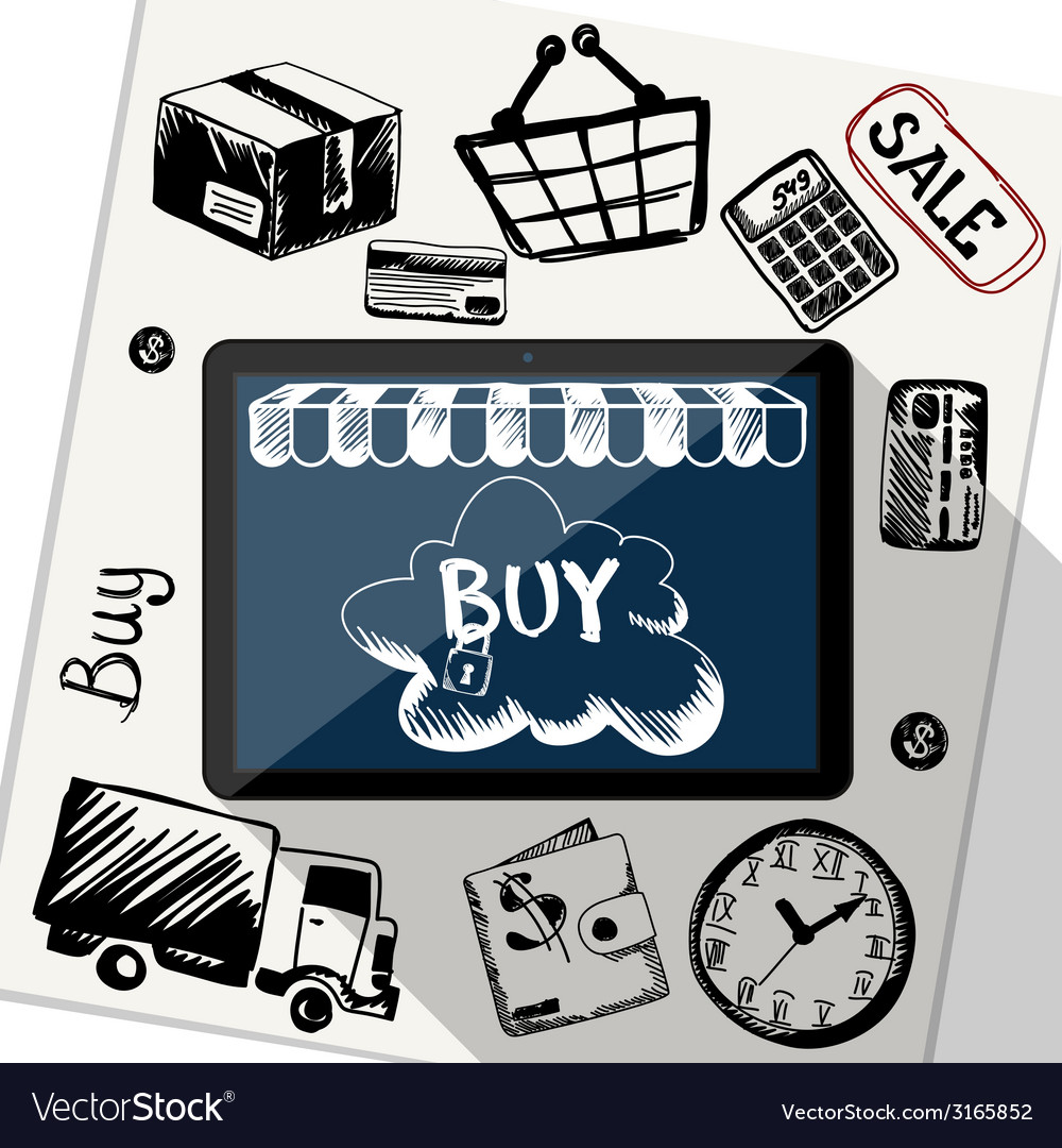 Online shopping e-commerce delivery payments vector   Price: 1 Credit (USD $1)