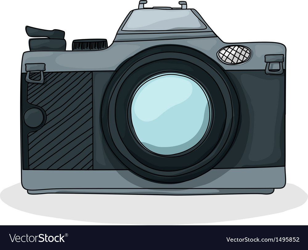 Retro cartoon foto camera vector | Price: 1 Credit (USD $1)