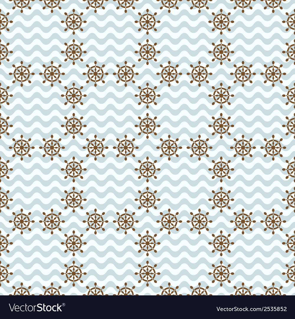 Seamless sea pattern with hand wheels vector | Price: 1 Credit (USD $1)
