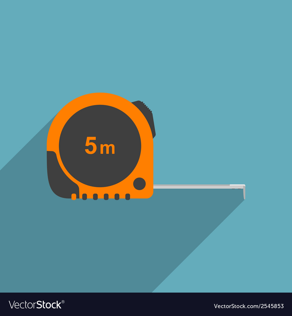 Flat measure tape vector | Price: 1 Credit (USD $1)