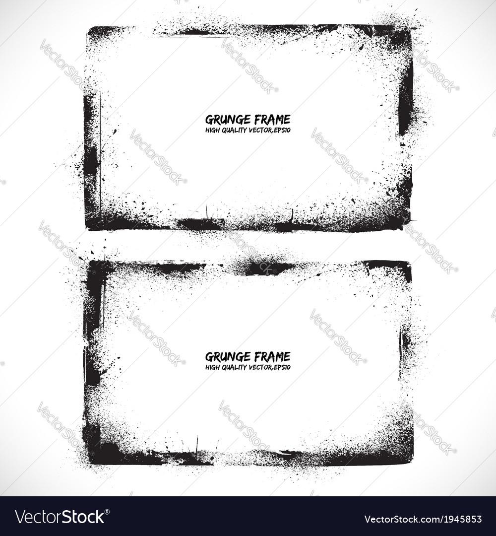 Grunge textured frames vector | Price: 1 Credit (USD $1)