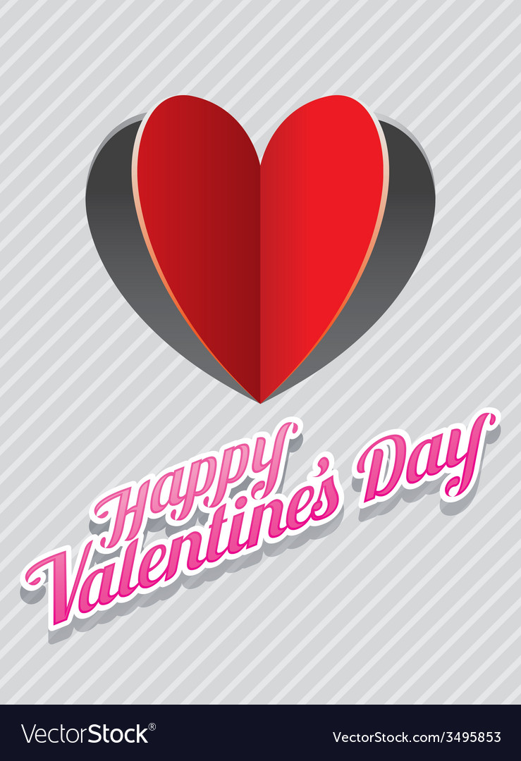 Heart shape paper cut background and valentine vector | Price: 1 Credit (USD $1)