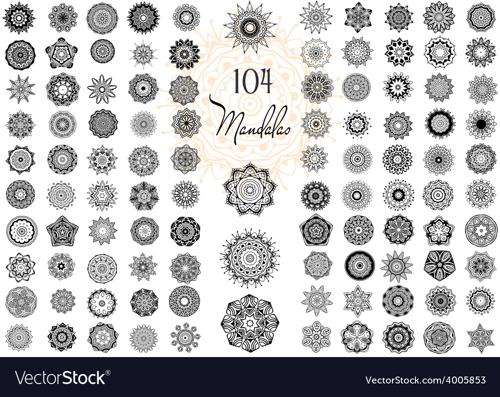 Ornament round set with mandala vector | Price: 1 Credit (USD $1)