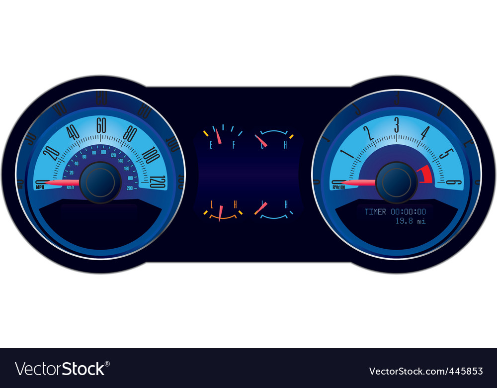 Racing car speedometer vector | Price: 1 Credit (USD $1)