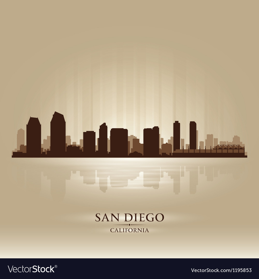 San diego california skyline city silhouette vector | Price: 1 Credit (USD $1)