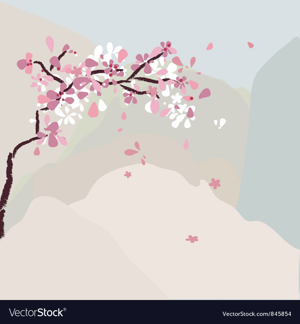 Cherry tree vector | Price: 1 Credit (USD $1)