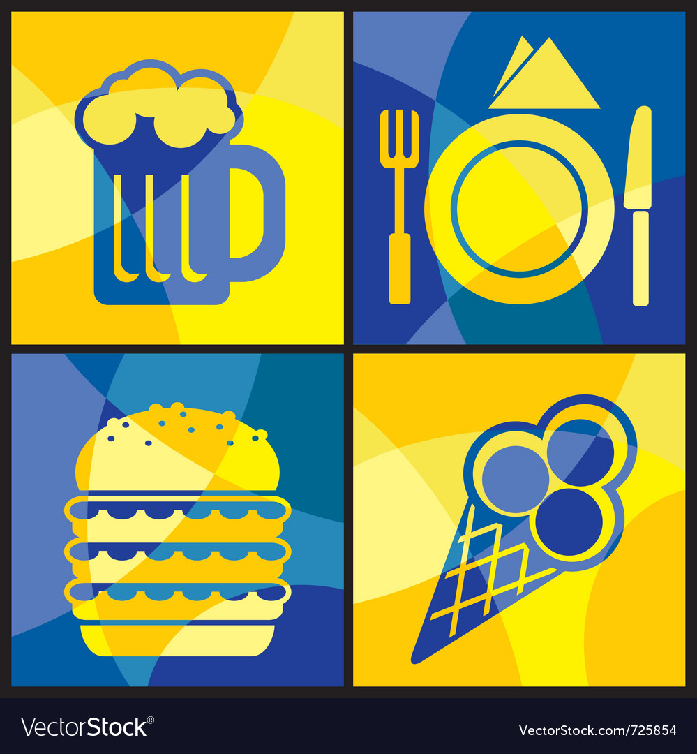 Cofood color cross vector | Price: 1 Credit (USD $1)