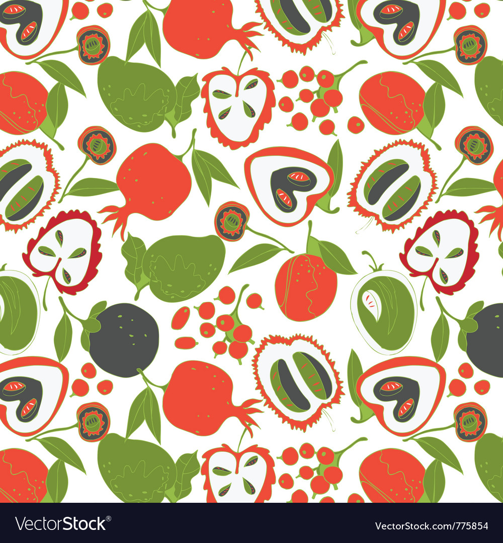 Colorful fruit wallpaper vector | Price: 1 Credit (USD $1)