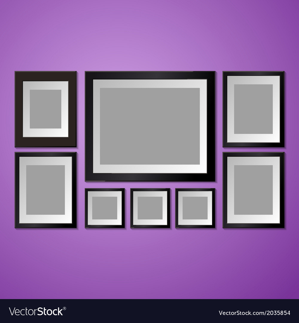 Colorful wall with empty picture frame vector | Price: 1 Credit (USD $1)
