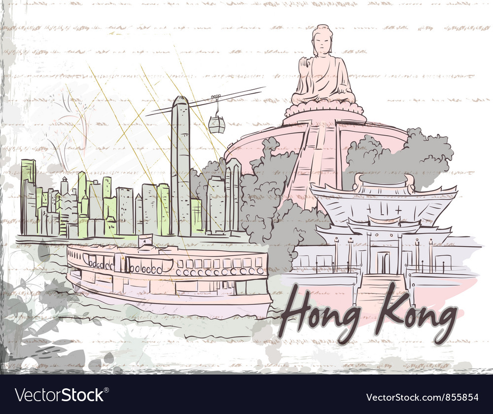 Hong kong doodles vector | Price: 1 Credit (USD $1)