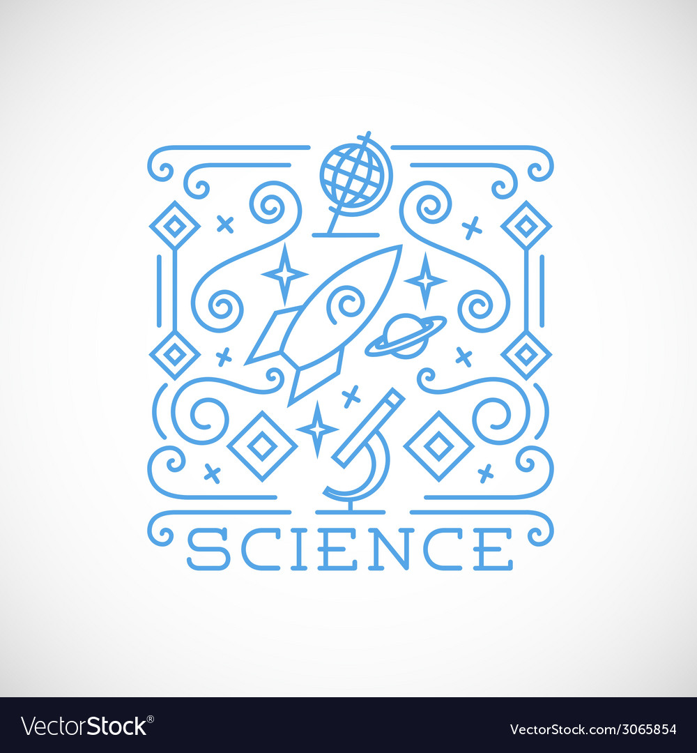 Line style science vector | Price: 1 Credit (USD $1)