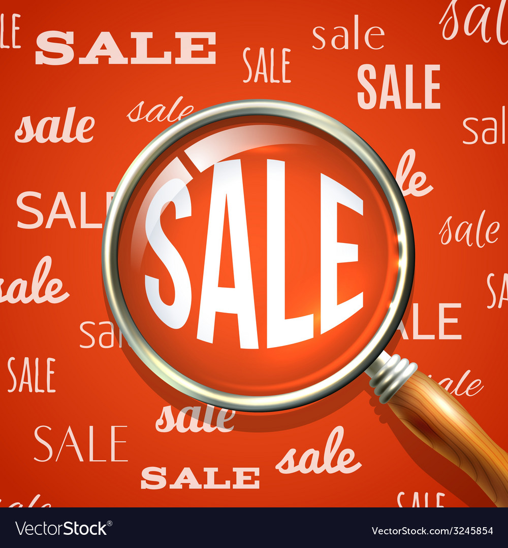 Magnifier and sale vector | Price: 1 Credit (USD $1)