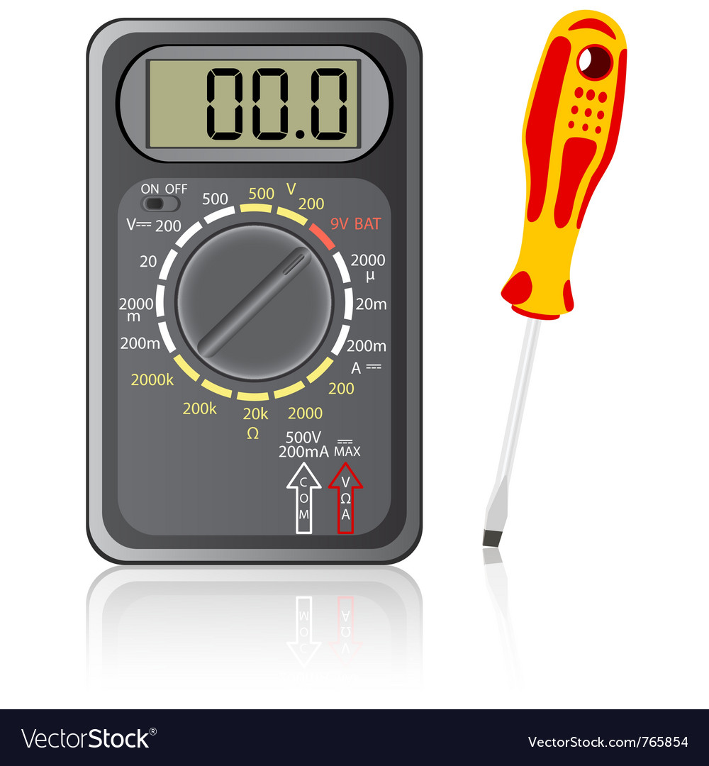 Multimeter screwdriver vector | Price: 1 Credit (USD $1)