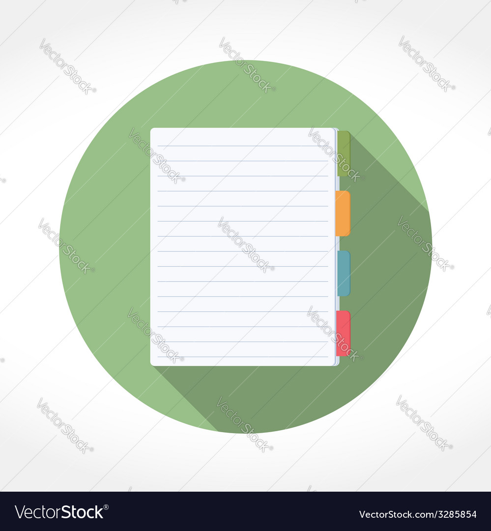 Notepad icon vector | Price: 1 Credit (USD $1)