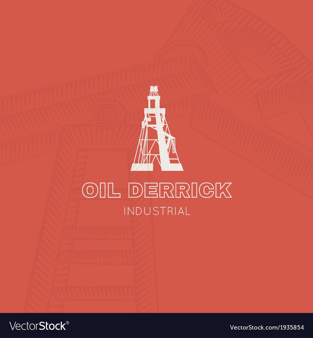 Oil rig icon vector | Price: 1 Credit (USD $1)