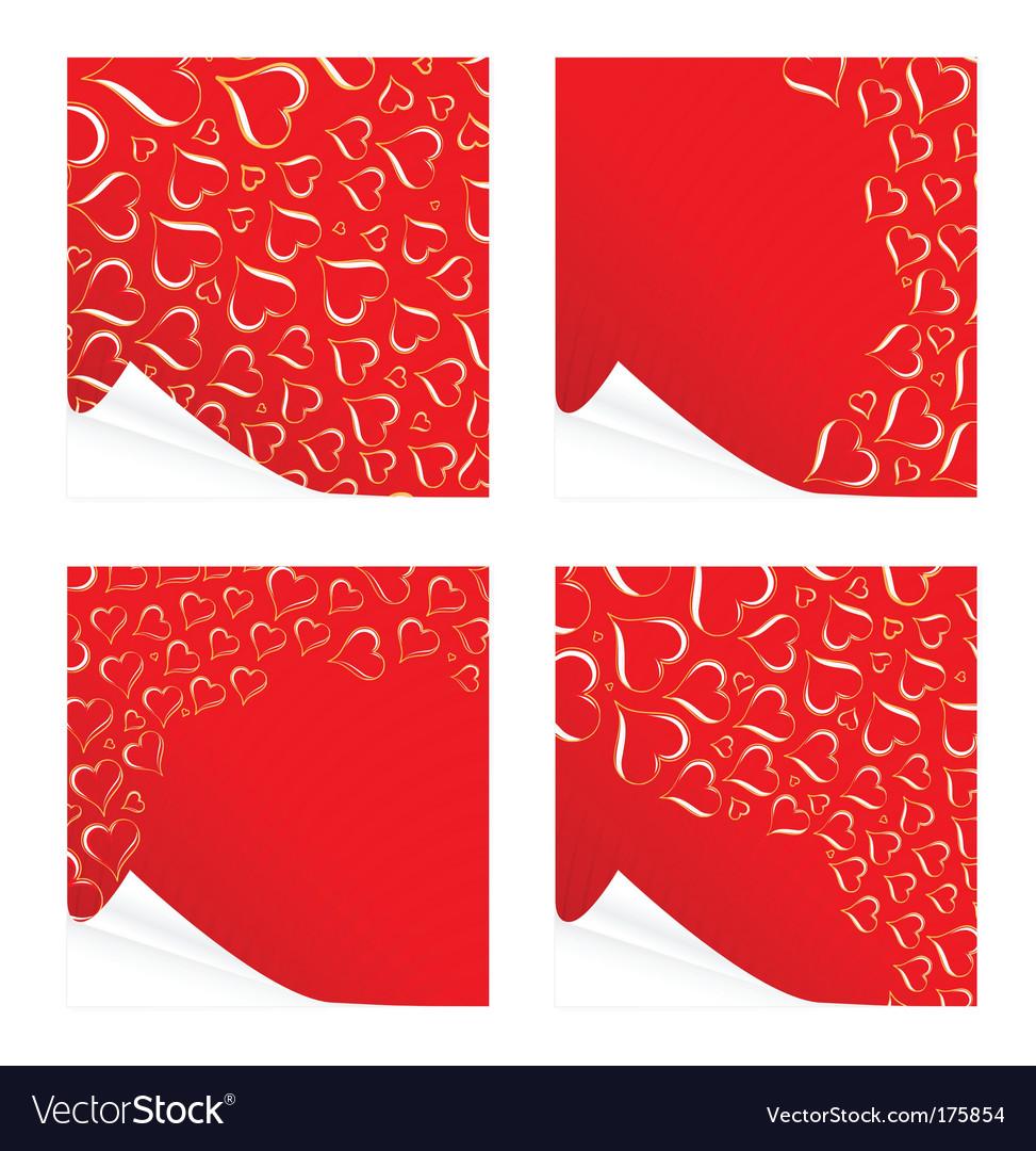Peeling valentine's cards vector | Price: 1 Credit (USD $1)