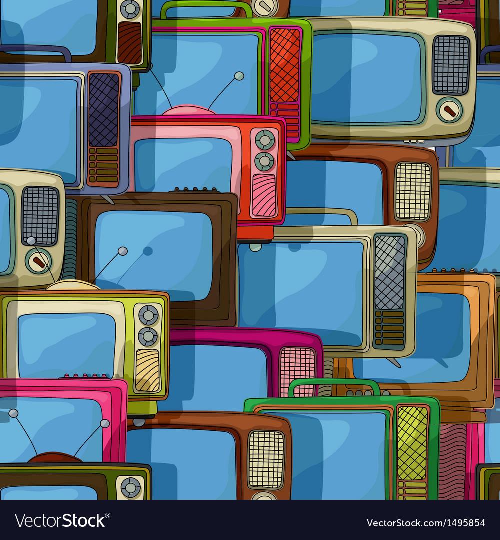 Seamless tv pattern vector | Price: 1 Credit (USD $1)