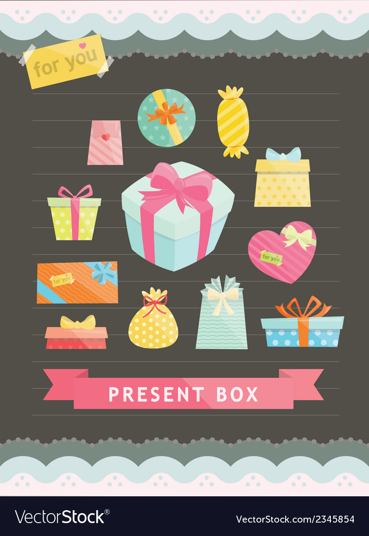 Set of gift box vector   Price: 1 Credit (USD $1)