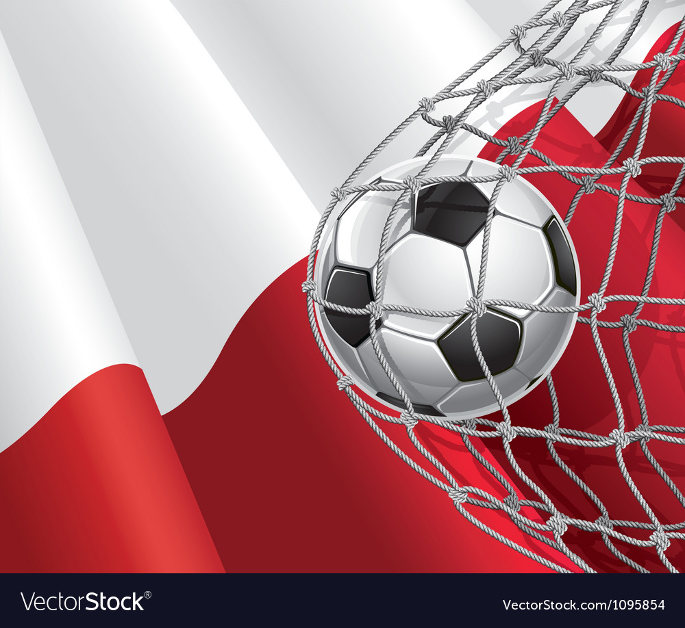 Soccer goal and poland flag vector | Price: 1 Credit (USD $1)