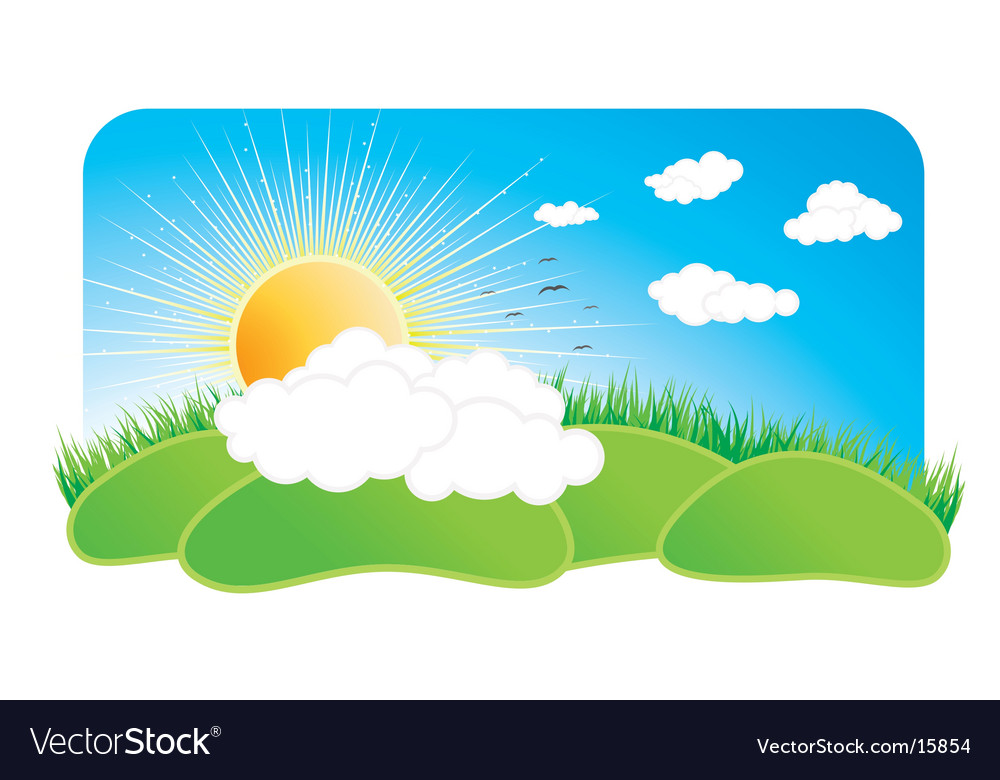 Sunny nature design element vector | Price: 1 Credit (USD $1)