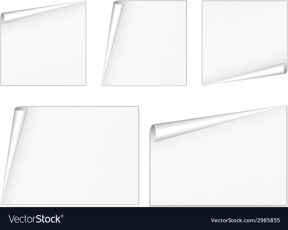 Blank white sheets vector | Price: 1 Credit (USD $1)