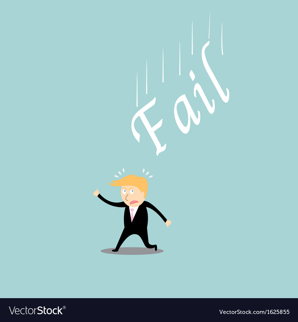 Fail investment cartoon concept vector   Price: 1 Credit (USD $1)